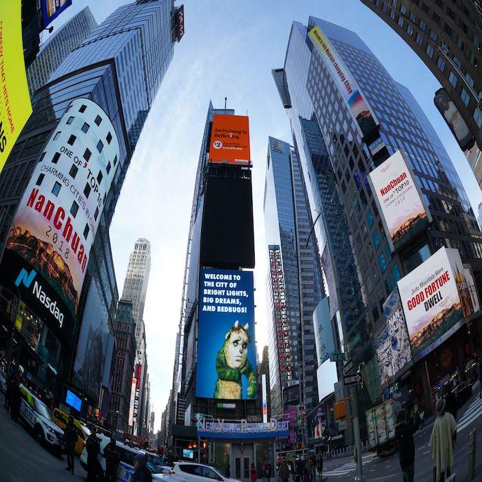 南川度假村荣登纽约时代广场路透屏纳斯达克大屏双屏滚播